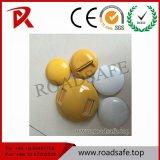 4 pollici dei riflettori di colore giallo dei branelli di vetro di viti prigioniere di ceramica bianche riflettenti di sicurezza stradale