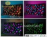 SMD5050 RGB / LED blanco cortina de estrellas para escenario de telón de fondo de tela de la boda