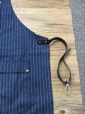 Venda por atacado feita sob encomenda do avental do barbeiro da sarja de Nimes da listra da alta qualidade