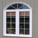 Alta calidad de aluminio de madera ventana abatible