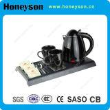 Chaleira elétrica da hospitalidade da alta qualidade de Honeyson com a bandeja para o hotel