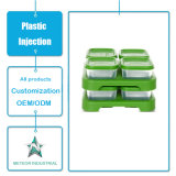 주문을 받아서 만들어진 플라스틱 주입 형 제품 식기 플라스틱 식품 포장 투명한 보존하는 상자