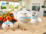 insieme di caffè dorato del tè della porcellana di disegno 15PCS