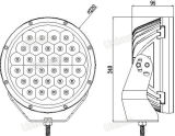 "Diodo emissor de luz 150W resistente elevado dos lúmens 24V 9 "" que conduz o projector"