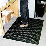 Stuoia di gomma della cucina di sicurezza, stuoia Anti-Fatigue del pavimento della maglia