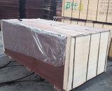 Madeira serrada Shuttering enfrentada da madeira compensada do Poplar película preta para a construção (12X1250X2500mm)