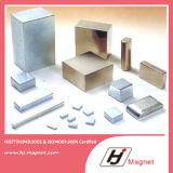 De super Sterke Aangepaste N35 N50 Magneet van NdFeB van het Neodymium van het Blok Permanente voor Motoren