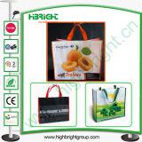 Dobragem reciclados não tecidos personalizados Sacola de Compras