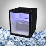Холодильник стеклянной двери миниый с стикером для промотирования питья