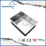 Bassin de cuisine fabriqué à la main de Cupc d'acier inoxydable de cuvette simple (ACS6045R)