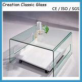 明確な緩和された正方形のガラス上