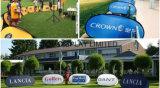 Förderung kundenspezifisch anfertigen knallen heraus die Fahne, die Golf-Sport bekanntmacht, den im Freienbildschirmanzeige-Sprung-Gewebe-Standplatz oben Fahne ein Feld-Zeichen knallen, das Horizont-Standplatz bekanntmacht
