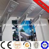 Venta Directa de Fábrica China precio competitivo en una sola calle luz LED solar 30W de luz solar integrado