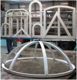 Fornitore della Cina di finestra della stoffa per tendine incurvata PVC/UPVC