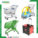 Carro de compras plástico barato de tienda de comestibles de la capa del polvo
