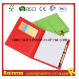 Paper Notebook with Sticky Memo Pad and Pen