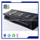bolso de café plástico negro mate de 250g 500g 1kg 2kg con el escudete lateral