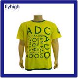 Les hommes de couleur jaune du Custom T-Shirt Imprimé promotionnel