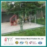 Покрынная PVC гальванизированная загородка звена цепи/оптовая черная загородка звена цепи