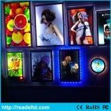 Slim LED Publicidade Crystal Acrylic Light Box Display