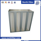 V-Bank Filter mit Plastikfilter des rahmen-HEPA H13