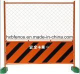 Revêtement en poudre clôture temporaire de maillage de soudure