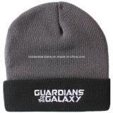 Il pattino ricamato disegno personalizzato prodotti dell'OEM mette in mostra il cappello acrilico del Beanie del nero del Knit del cappello