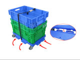 Chariot à main de chariot à main-d'œuvre mobile en plastique empilable sur mesure