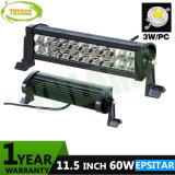 11,5 pulgadas 60W de la barra de luz LED IP67 con Epistar LED para carretilla