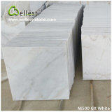 La Cina Popular White Marble M500 Gx White Polished Marble Tile per Floor/Wall Cladding