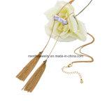 La moda simétricos Borla larga Cadena Colgante Collar