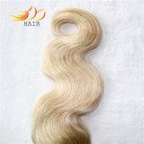 Tessuto malese dei capelli di Remy di estensione dei capelli di colore di Ombre
