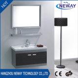 Cabina clásica de la vanidad del cuarto de baño del acero inoxidable de la pared con el espejo