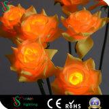 Künstliches einzelnes Dampf-Rosen-Blumen-Licht für Hochzeits-Dekoration