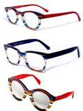 Новейший стиль цветных полос ацетат очки рамы
