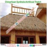 Tiki 바를 위한 자연적인 보기 종려 합성 이엉 또는 Tiki 오두막 합성 지붕을 짚으로 인 초막 물 방갈로 비치 파라솔 5