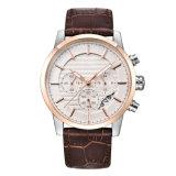 Wristwatch мужчины кожаный планки способа сетноой-аналогов