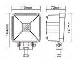 """4.3 """" 도로 사각 45W LED 일 빛 떨어져 밝은 IP67 10-30V 크리 사람 플러드 반점 광속 높이"""