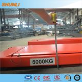 5000kg de hydraulische Heftoestellen van de Auto van de Schaar van de Groepering van het Wiel van de Aandrijving
