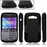 Combo perforado el caso del teléfono móvil para Blackberry Bellagio 9790 (TX-Combo0009)