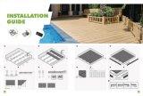 Un revêtement de sol de plein air avec des matériaux de construction WPC