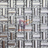 銀15*48mm Titanium Crystal Art Glass Mosaic Tile (TC346)