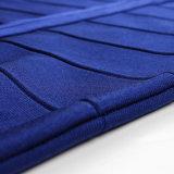 Stutzen-Kurzschluss-Kleid der Dame-Black Cap Sleeve Sexy quadratisches
