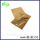 Gold Zipper PVC Clear Poly Ziplock Bolsa de alumínio