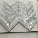 Mattonelle di mosaico del marmo del Fishbone delle mattonelle di mosaico del marmo di figura del Chevron