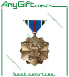 3D en alliage de zinc Medal avec Antique Brass Plating
