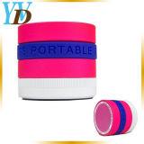 Color caramelo Mini TF Lente giratorio FM Bluetooth altavoces (YWD-Y19)