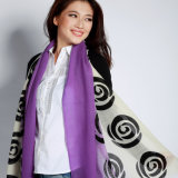 Impressão Digital lenço de lã para Mulheres