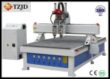 Pneumatic Three Heads를 가진 CNC Wood Engraving Machine