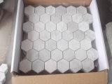 Esagono/Basketweave/mosaici di marmo bianchi Herringbone/francesi del pavimento/parete del reticolo per le mattonelle di pavimentazione della stanza da bagno